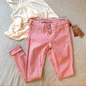 Pink True Religion Skinny Jeans